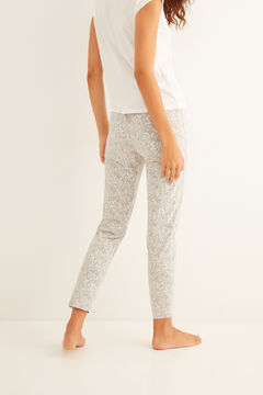 Womensecret Long grey printed pyjama bottoms grey