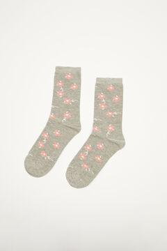 Womensecret Grey floral socks grey