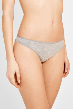 Womensecret 3 cotton thongs pack grey