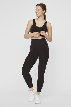Womensecret Recycled nylon maternity leggings black