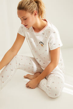 Womensecret Pyjama long imprimé « Le Fruit » blanc