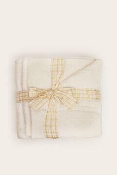 Womensecret Nyers színű, simított szövetű takaró bézs