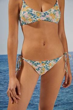 Womensecret Sustainable floral brazilian bikini bottoms white