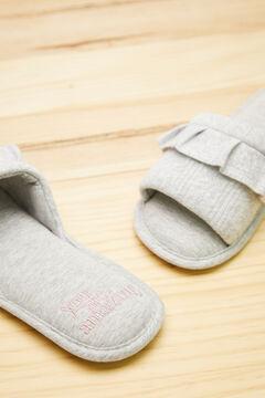 Womensecret Grey cotton slippers grey