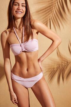 Womensecret Pink bandeau bikini top pink