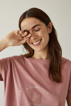 Womensecret Pink 100% organic cotton pyjamas with moon design. pink