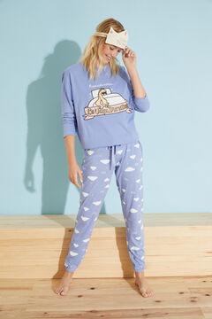 Womensecret Pijama comprido algodão azul Moderna de Pueblo azul