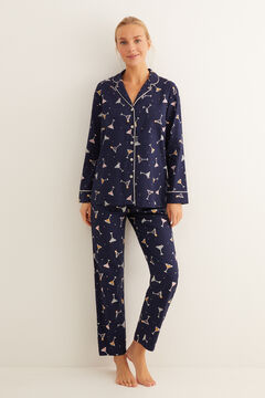 Womensecret Classic long cocktail print pyjamas printed