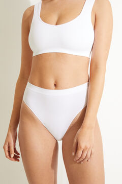 Womensecret Braguita alta brasileña sin costuras blanco blanco