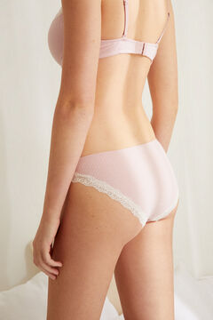 Womensecret Classic pink lace detail panty pink