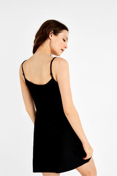 Womensecret Short slip dress Schwarz