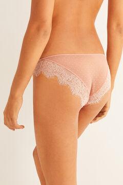 Womensecret Classic plumetis panty nude