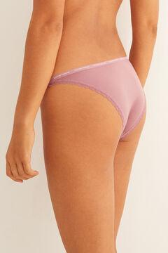 Womensecret Strappy microfibre Brazilian panty pink