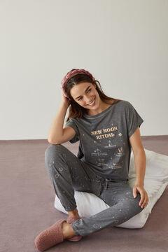Womensecret Long grey 100% organic cotton pyjamas. grey