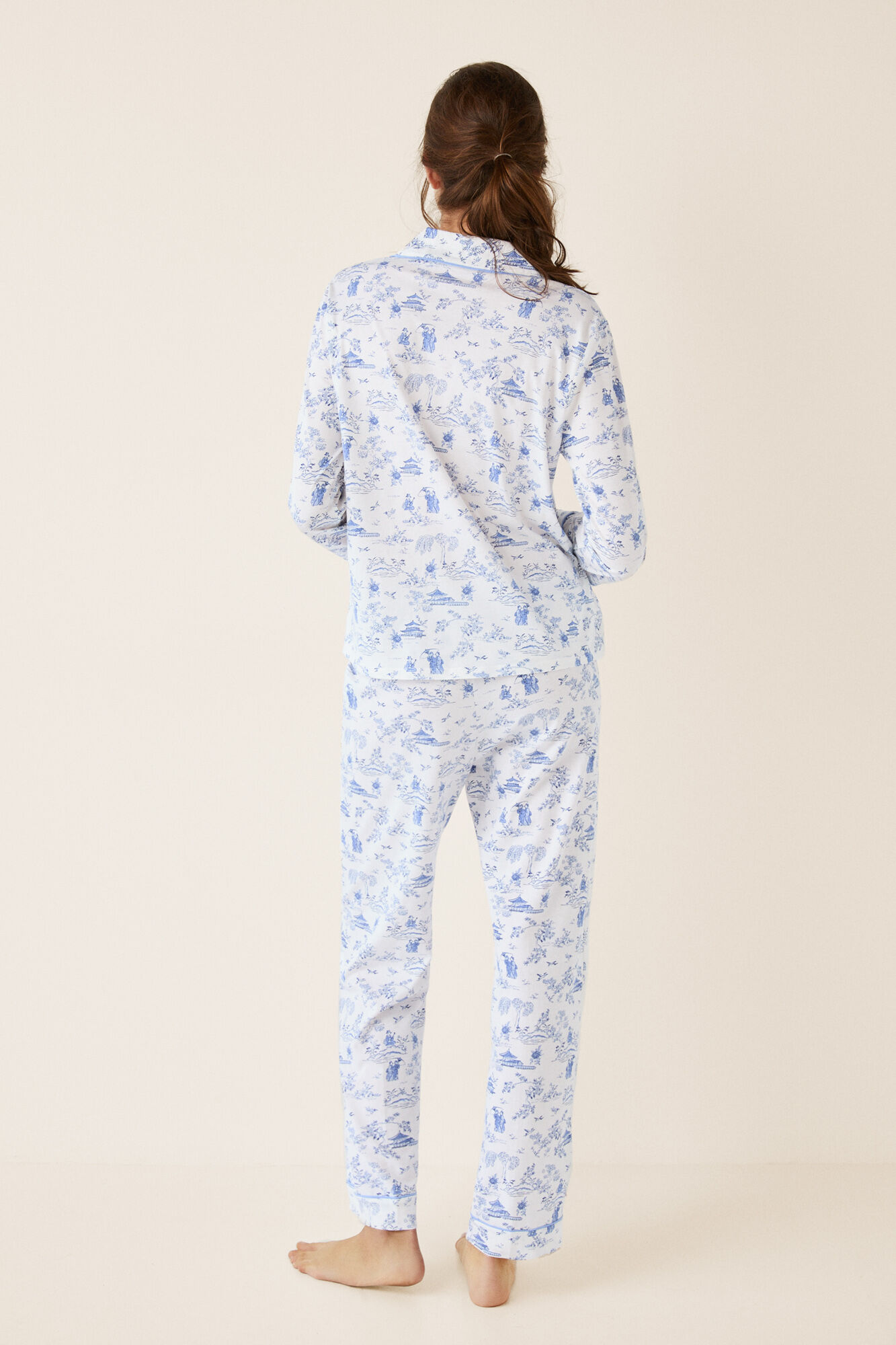 a72b5253f Pijama camisero largo oriental
