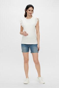 Womensecret Denim maternity shorts blue