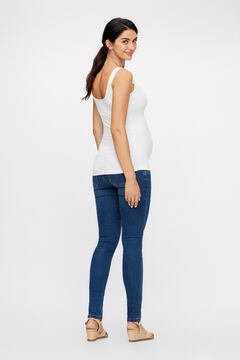 Womensecret Recycled nylon seam-free maternity top white