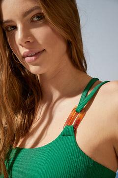 Womensecret Top biquíni assimétrico verde