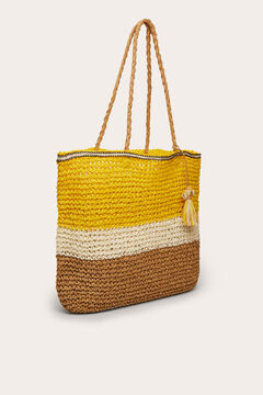 Womensecret Raffia effect bag printed