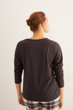 Womensecret Navy Henley t-shirt  grey