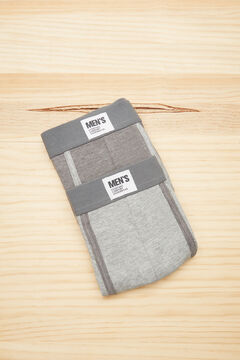 Womensecret 2-pack grey cotton boxers grey