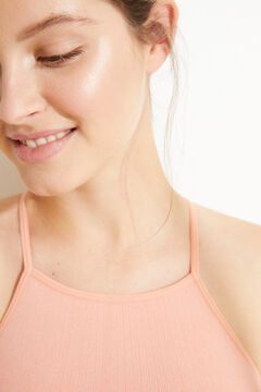 Womensecret Orange seam-free ribbed top. pink