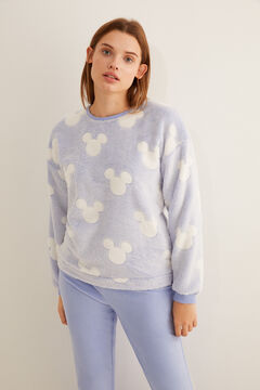 Womensecret Blue Mickey calendered fleece pyjamas blue