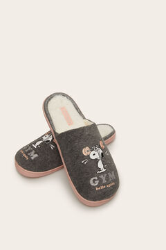 Womensecret Snoopy slingback slippers grey