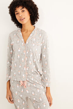 Womensecret Classic long-sleeved Miffy pyjamas grey