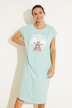 Womensecret Green 100% cotton midi nightgown green