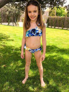 Womensecret Girls' floral bikini bottoms blue