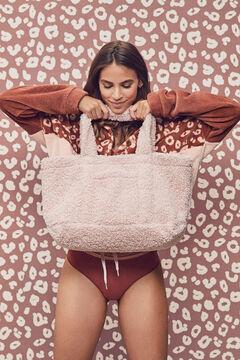 Womensecret Rózsaszín táska, szintetikus gyapjúval rózsaszín