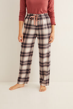 Womensecret Long grey check print pyjama bottoms printed