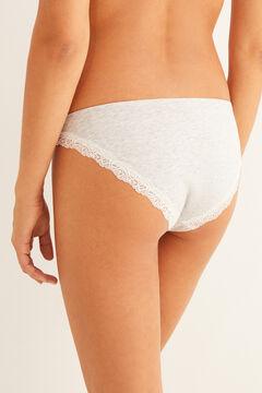 Womensecret Grey organic cotton classic panty grey