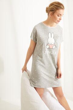 Womensecret Camisa de dormir curta algodão Miffy  cinzento
