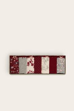 Womensecret Lot de 7 tangas coton fleurs imprimé