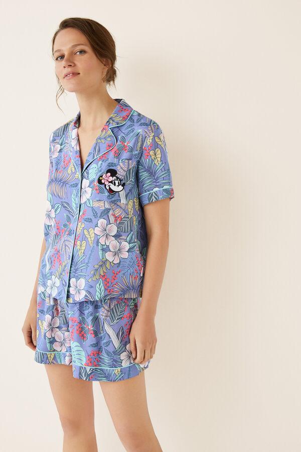 dc44be26f Womensecret Pijama corto camisero tropical estampado