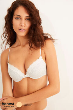 Womensecret Grey organic cotton push-up bra grey