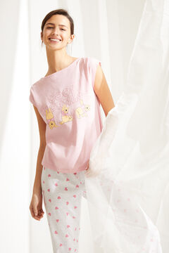 Womensecret Pijama manga corta Capri Winnie de Pooh algodón rosa rosa