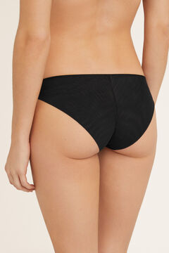 Womensecret Flocked tulle and lace panties black
