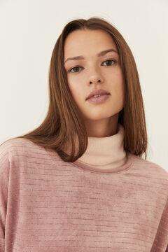 Womensecret Long pink velvet pyjamas grey