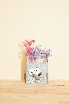 Womensecret Caja almacenamiento Snoopy flores verde