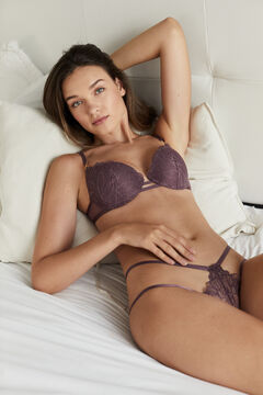 Womensecret Maroon lace string printed
