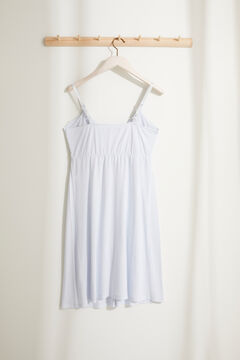 Womensecret Strappy maternity nightgown in soft jersey-knit blue
