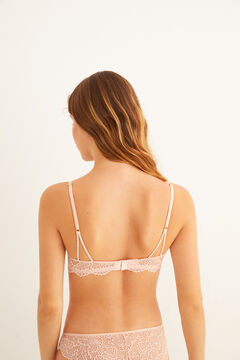 Womensecret Pink lace push-up bra pink