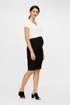 Womensecret Recycled nylon seam-free maternity skirt black