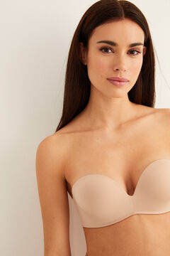 Womensecret SUPERB Sujetador sin tirantes sin aro súper push up nude