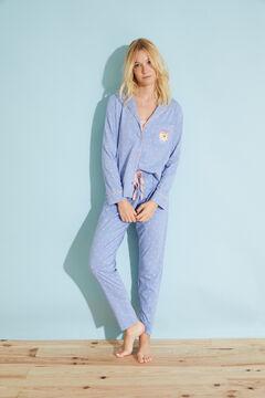 Womensecret Long-sleeve cotton shirt pyjamas Moderna de Pueblo blue