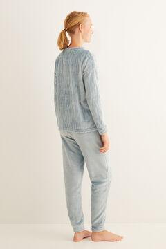 Womensecret Pyjama long imprimé zèbre bleu vert