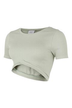 Womensecret Camiseta crop seamless maternity gris